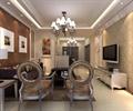 客厅,椅子,边几,电视墙,电视柜,台灯,吊灯