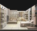 家居館,陳列柜,床,背景墻