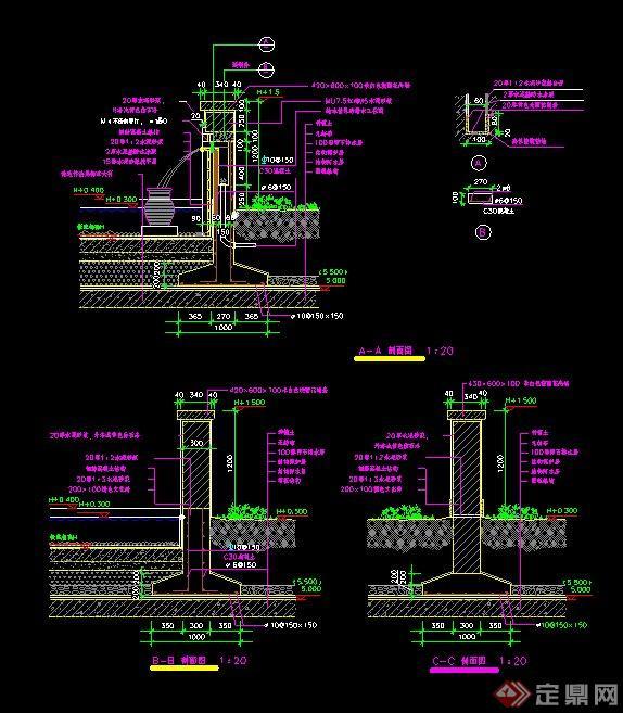 水景墙设计CAD施工详图
