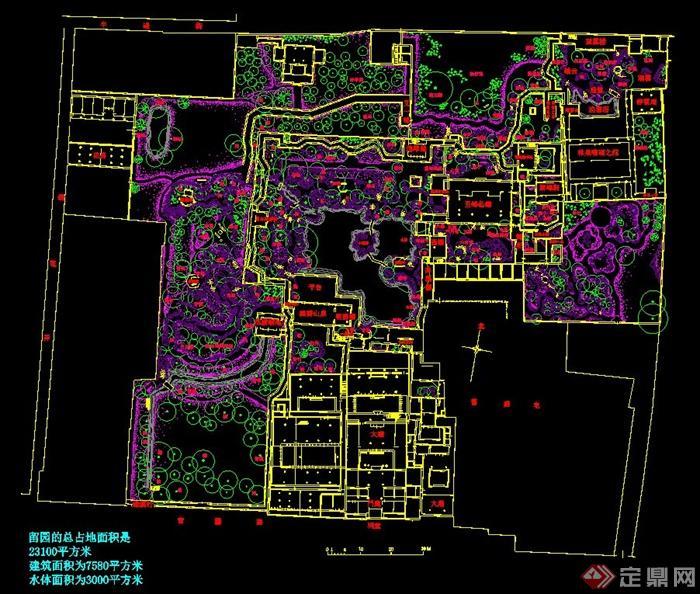 苏州留园规划设计总平图