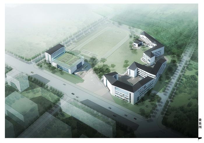 某新中式中学建筑方案文本设计[原创]