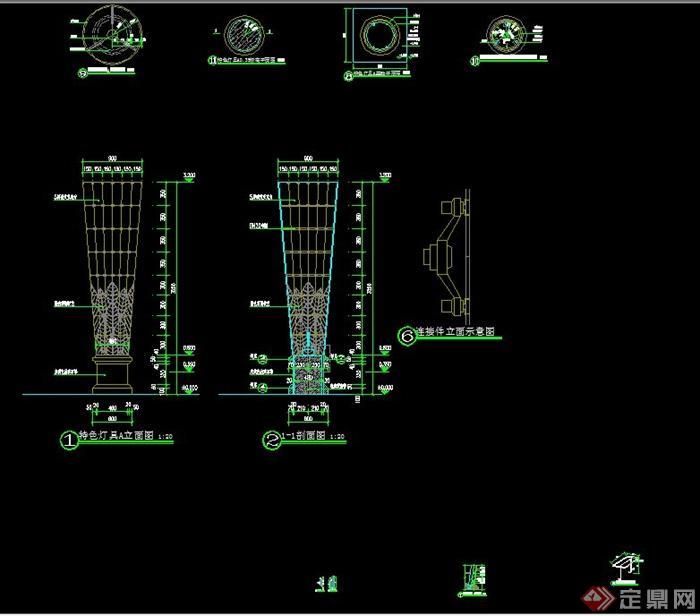 特色灯具设计cad施工图