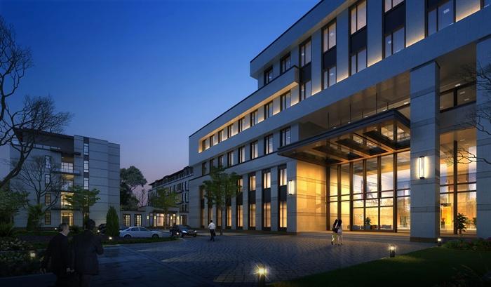 現代五層綜合辦公樓建筑設計方案(含效果圖)[原創]