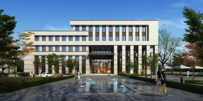 现代五层综合办公楼建筑设计方案(含效果图)[原创]