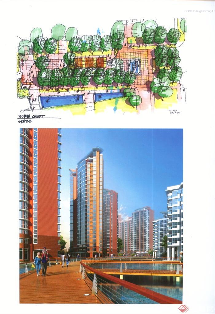 景观节点建筑设计实景图-住宅区住宅建筑滨水景观园桥