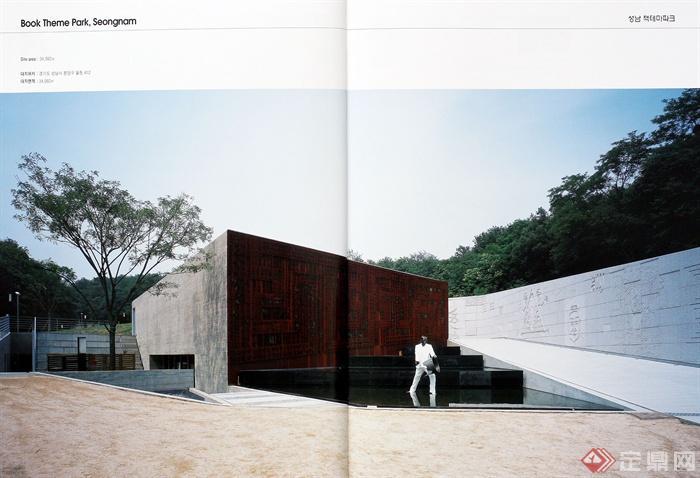 园林景观节点设计实景图-水池水景景墙景观建筑-设计