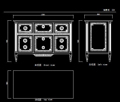 欧式家具设计cad图库