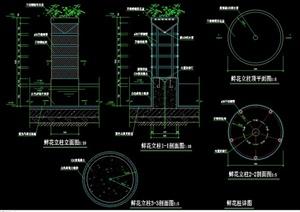 一个鲜花柱设计CAD施工图