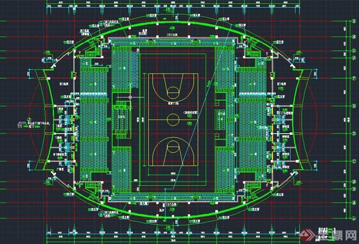 現代某三層籃球場建筑設計CAD方案圖,該建筑樓層為三層,圖紙內容有立面圖、剖面圖、樓層平面圖等,具有一定的參考價值。