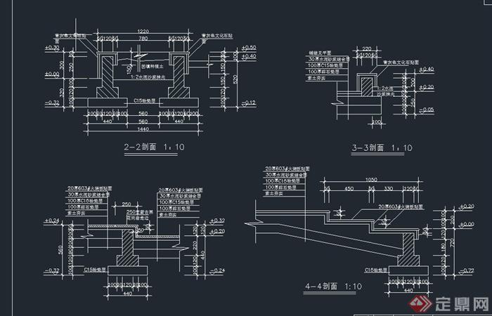 园林景观小广场设计cad施工图