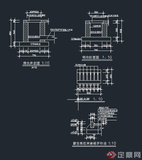 ... 路牙设计CAD施工图[Landscape node Road teeth design CAD drawings