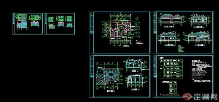 简洁欧式公厕建筑设计cad施工图