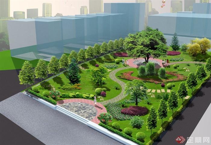 美丽乡村文化小公园景观设计PSD效果图与JPG方案图(1)