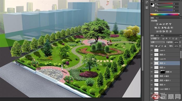 美丽乡村文化小公园景观设计psd效果图与jpg方案图[原创]