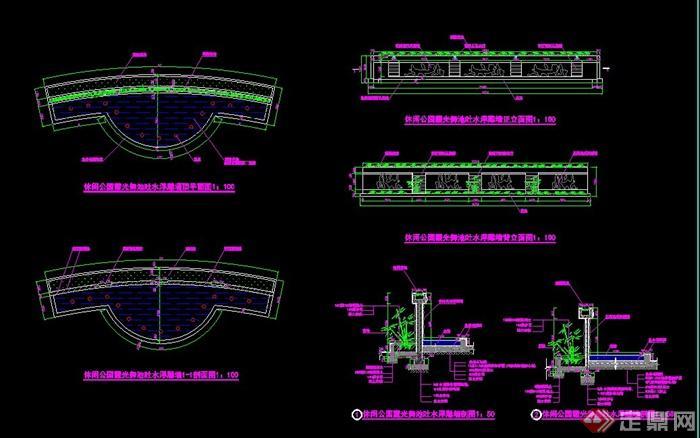 吐水景墙设计CAD施工图