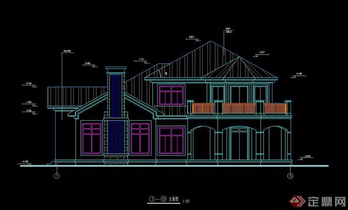 二层C型别墅建筑设计方案图