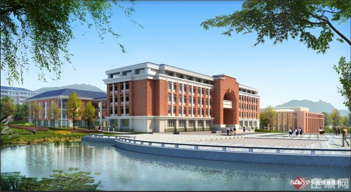 英伦风格大学校园建筑规划方案及效果图[原创]