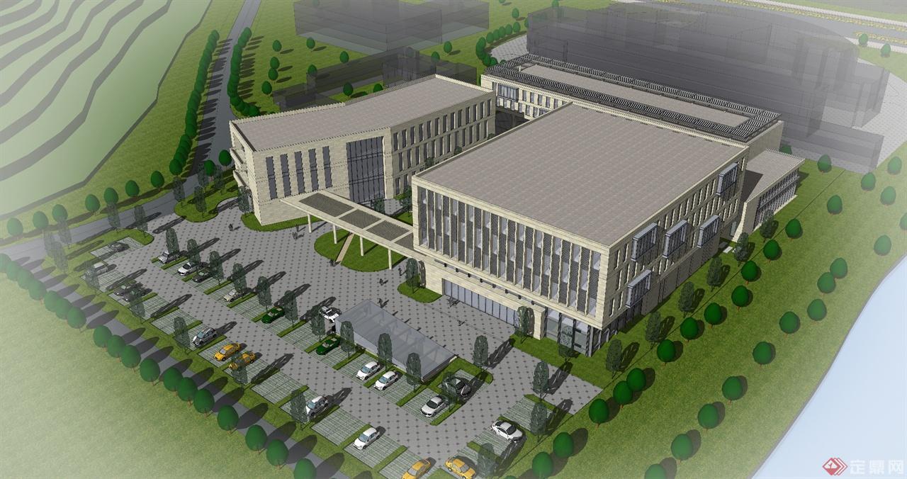 厂区办公楼-大邱建筑设计工作室