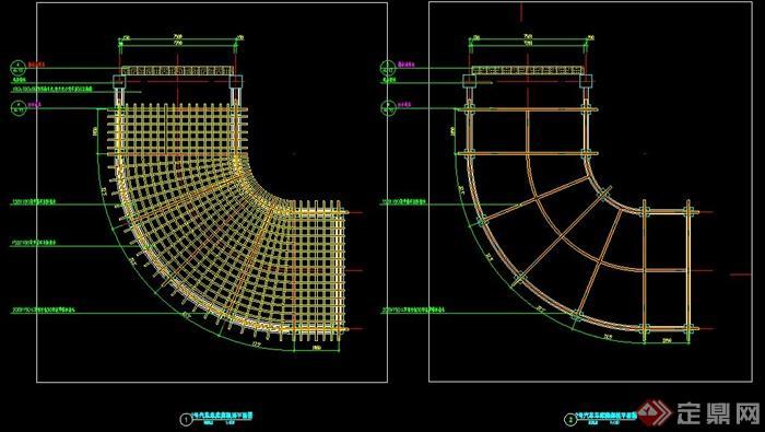 地下室车库及入口入口廊架施工图cad加载却插件无法使用a车库图片
