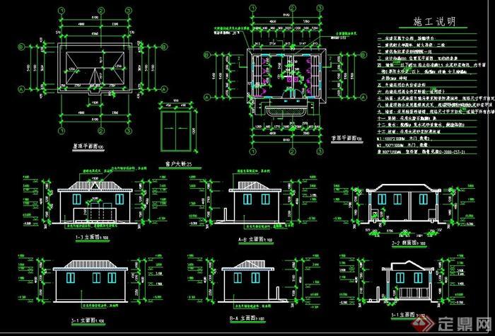 单层公厕建筑设计cad施工图