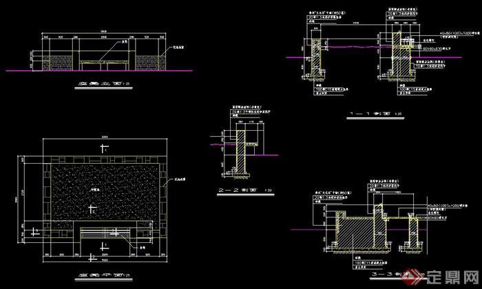 cad drawings]  > 座凳设计cad施工图,包含了凳子平立剖面详图,标注