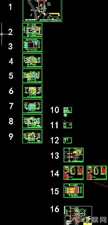 某单层小木屋建筑设计cad施工图
