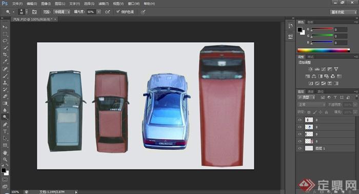 三张汽车平面PS素材(3)