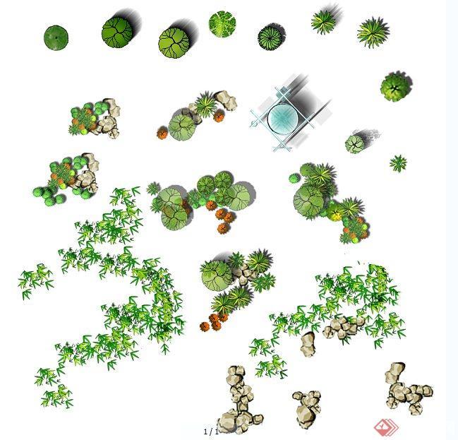 景观植物平面ps素材