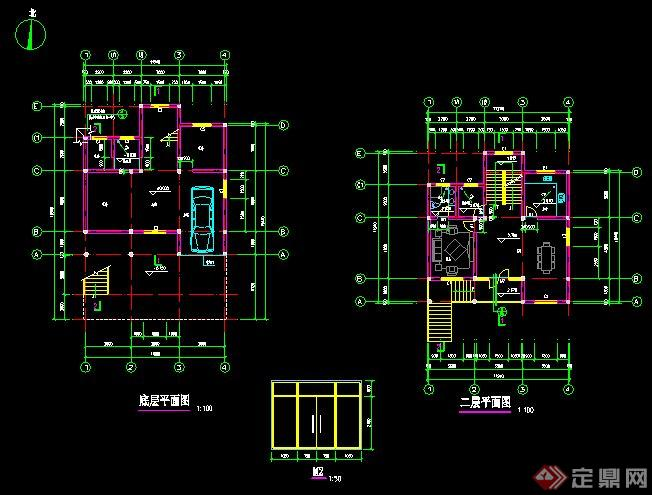 现代三层农村自建房建筑设计施工图