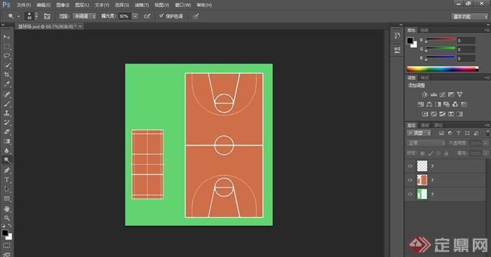 篮球场,羽毛球场ps顶视素材