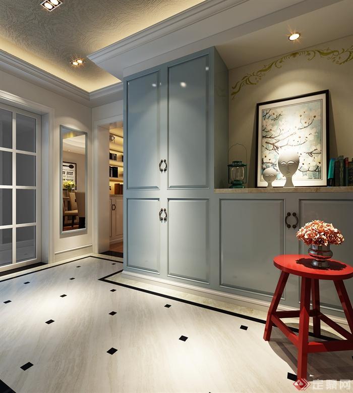 8张坐凳室内设计效果图-储物柜住宅装饰画陈设二维图v坐凳图片
