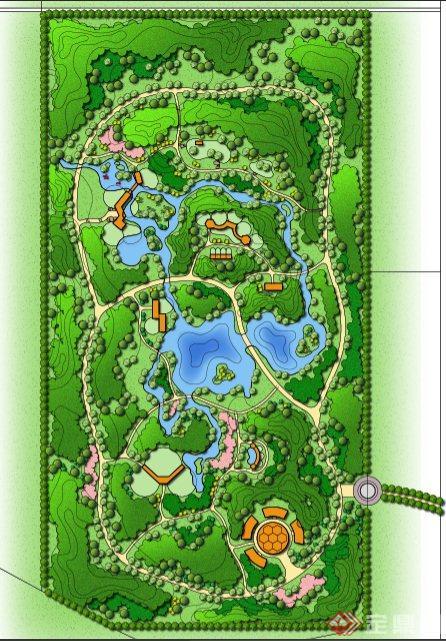 某绿化生态公园设计ps平面图