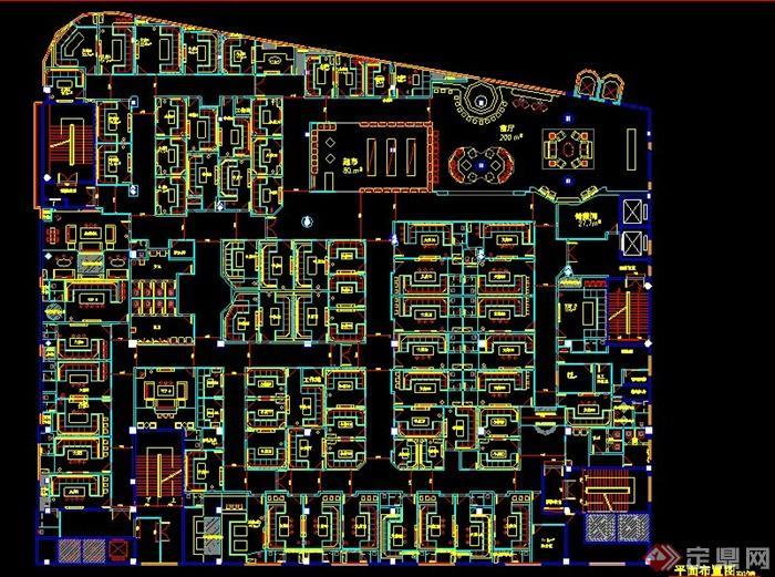 现代风格量贩式ktv室内设计施工图(含效果图)[原创]