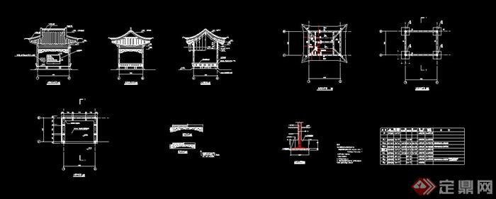 中式水榭设计cad施工图