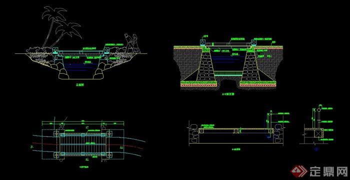园木桥设计cad施工图