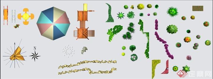 景观植物 街景素材ps平面素材