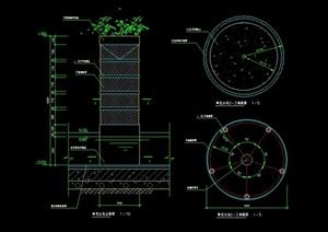 鲜花立柱设计CAD施工图