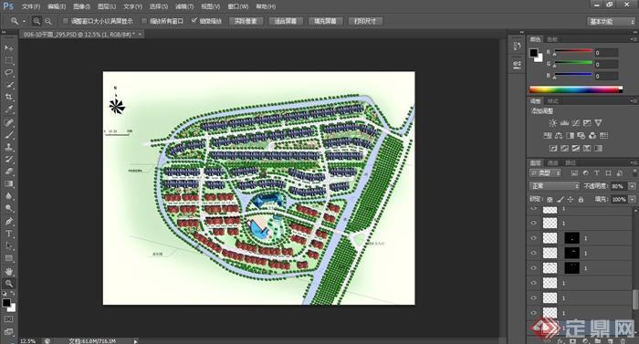 某大型住宅小区规划设计psd平面