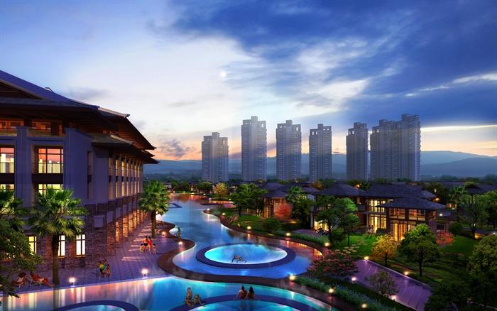 某东南亚风格酒店建筑设计cad方案图与jpg图[原创]