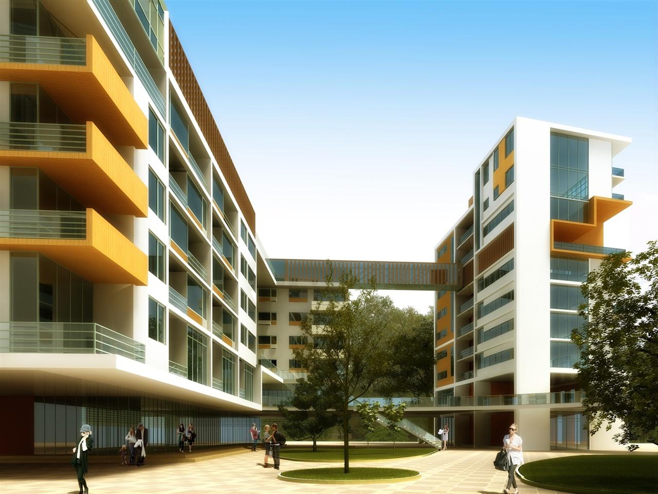 教学楼建筑效果图