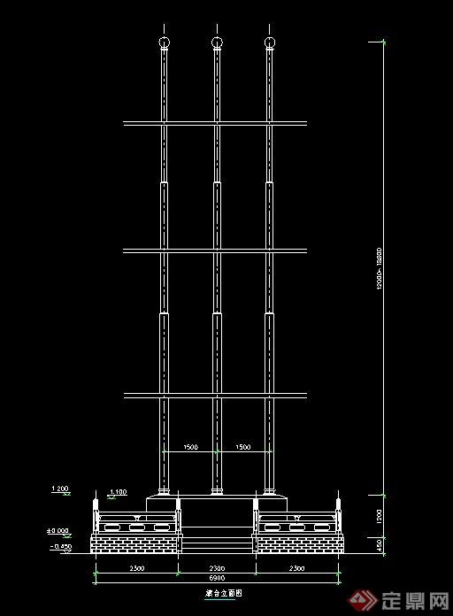 旗台设计cad施工图
