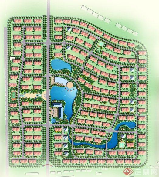 某居住小区规划设计PS平面图图片