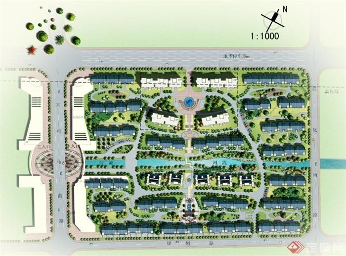 某住宅小区规划设计PSD平面图