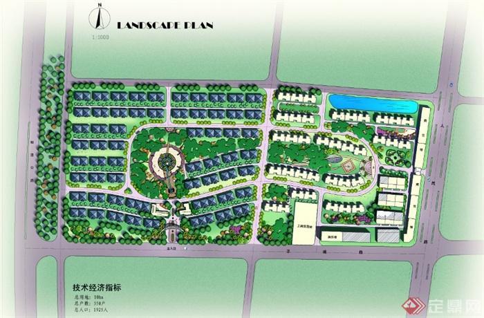 某住宅小区整体规划设计ps平面图