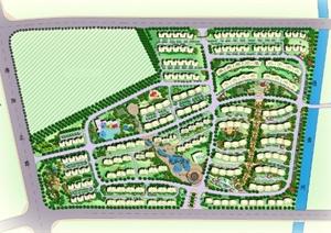某别墅建筑外景观设计PSD平面图 -PSD园林景观设计方案效果图设计图片