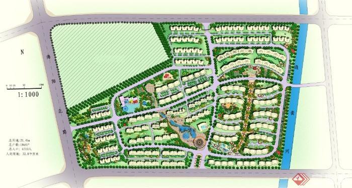 某大型居住小区规划设计ps平面