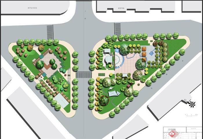 某休闲小广场景观设计psd平面图
