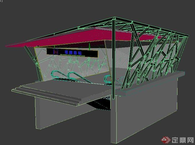 现代风格地铁站出入口3dmax模型