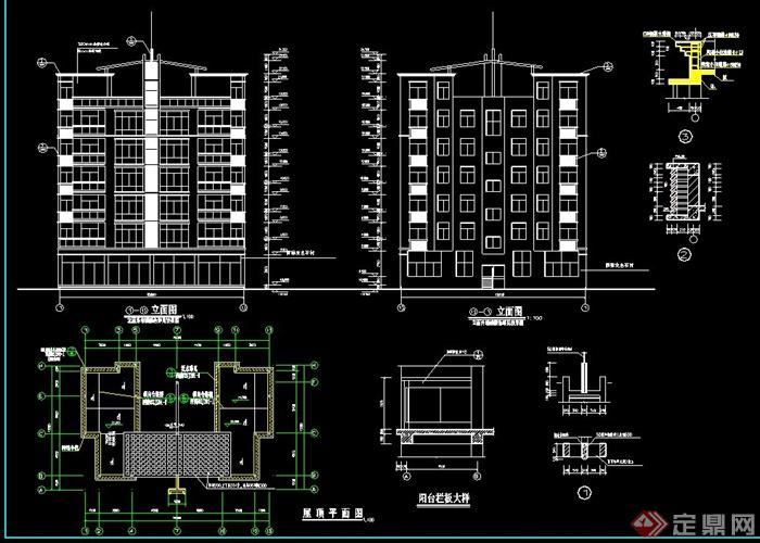 多层住宅建筑设计CAD施工图