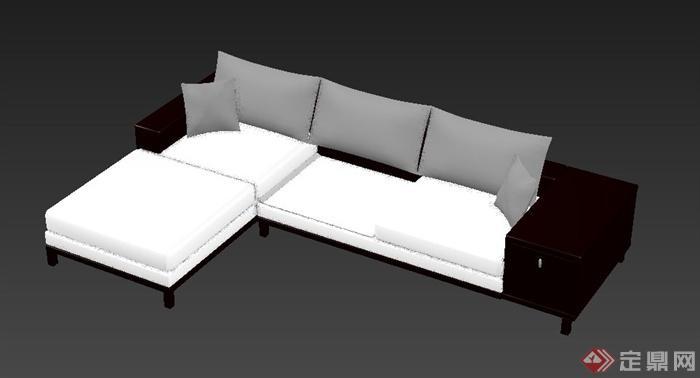 现代中式沙发设计3dmax模型